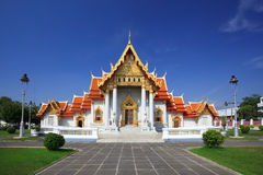 The Marble Temple, Bangkok, Th Royalty Free Stock Image