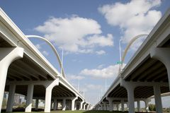 The Margaret Mc-Dermott Bridge At City Dallas Stock Photography