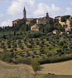 The Medieval Town Of Pienza Stock Photo