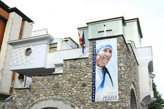 The Memorial House Of Mother Teresa In Skopje Royalty Free Stock Images