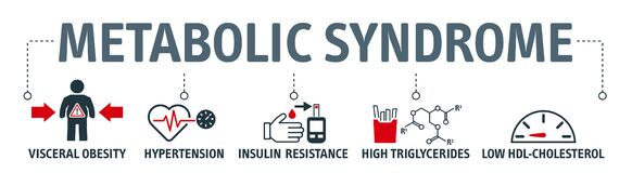 Free The Metabolic Syndrome Infographics With Icons Royalty Free Stock Image - 180246136