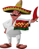 The Mexican And The Jalapeno Stock Photography