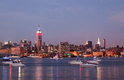 Free The Mid-town Manhattan Skyline Royalty Free Stock Image - 15025416
