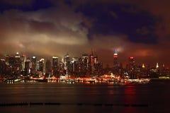 Free The Mid-town Manhattan Skyline Royalty Free Stock Photos - 5679148