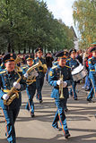 The Military Orchestra On Town Street. Stock Images