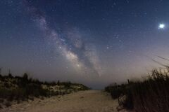 Free The Milky Way Rising In The Sky. Fire Island - Long Island NY Royalty Free Stock Photos - 187004758