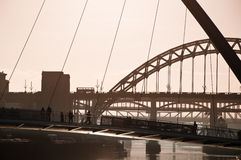 The Millenium And Tyne Bridges. Newcastle Upon Tyne. Royalty Free Stock Image