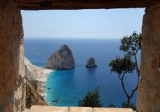 Free The Mizithres, Small And Big. Amazing Rock Formations On Keri Cape, Zakynthos Island. Greece. Royalty Free Stock Photography - 196235327