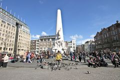 The Monument On Dam In Amsterdam Netherlands Stock Image