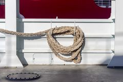 Free The Mooring Rope On Ship Royalty Free Stock Image - 145689786