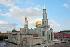 Free The Moscow Cathedral Mosque In The Evening Light. Royalty Free Stock Photos - 109128458