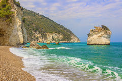The Most Beautiful Coasts Of Italy:Baia Dei Mergoli Beach (Apulia). Royalty Free Stock Photography