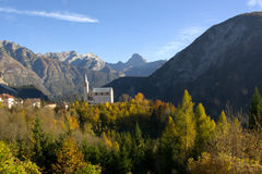Free The Mountain Church Of Valle Di Cadore In The Belluno Dolomites In Veneto, Italy Royalty Free Stock Photo - 99146525