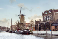 The Musum Harbor Of Gouda Royalty Free Stock Photo