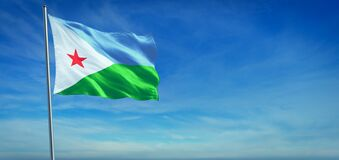 Free The National Flag Of Djibouti Royalty Free Stock Photography - 187950337