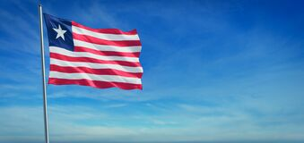 Free The National Flag Of Liberia Stock Photography - 187950952