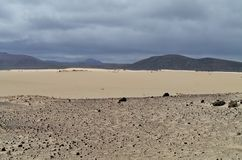 The Nature Park With The Dunes Of Correlejo On Fuerteventura Royalty Free Stock Photo