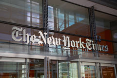 The New York Times Entrance Royalty Free Stock Image