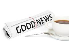 Free The Newspaper GOOD NEWS Royalty Free Stock Photos - 25989328