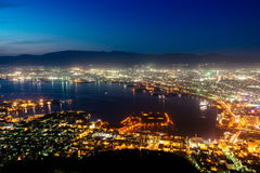 The Night View Of Hakodate From Mt. Hakodate, Japan Royalty Free Stock Images