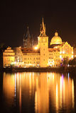 The Night View On Bright Old Town Of Prague Royalty Free Stock Photo
