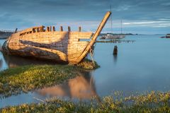 Free The Noirmoutier Boats Cemetery. Royalty Free Stock Photo - 160976115