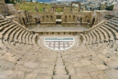 The North Theatre In Jerash Royalty Free Stock Photo