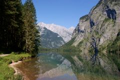 The Obersee And The Watzmann-east Wall Stock Photo