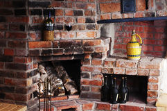 Free The Old Brick Fireplace Royalty Free Stock Images - 18316409