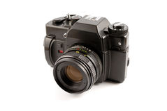 Free The Old Film Camera On A White Background Royalty Free Stock Photography - 7304637