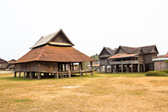 The Old House In Laos Royalty Free Stock Photo