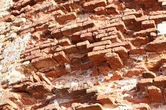Free The Old Red Brick Fortress Wall Is Crumbling Royalty Free Stock Photography - 151418587