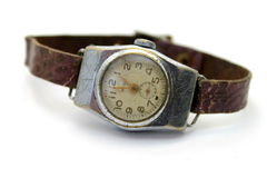 The Old Watch On White Background Royalty Free Stock Photography