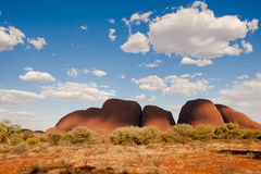Free The Olgas, Kata Tjuta, Australia, With Blue Sky And White Clouds Stock Photos - 26076353