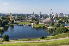 Free The Olympiapark Area, Munich. Germany Stock Photography - 149996982
