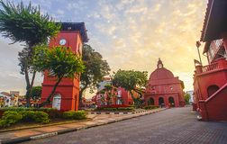 Free The Oriental Red Building In Melaka, Malacca, Malaysia. Soft Foc Stock Photos - 120302633