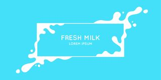 Free The Original Concept Poster To Advertise Milk. Stock Photography - 117285052