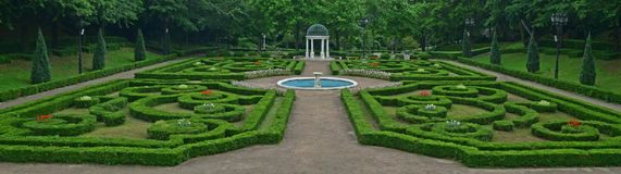 Free The Outdoor Versailles Styled Geometrically Symmetrical European Garden At Yeomiji Botanical Garden, Jeju Island, South Korea Stock Photo - 119056920