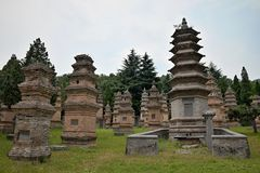 Free The Pagoda Forest At Shaolin Monastery In Henan Province In China. Stock Photo - 118845340