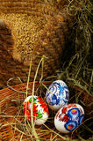 The Painted Eggs Stock Images