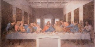 Free The Painting Of Last Supper Royalty Free Stock Photography - 108495837