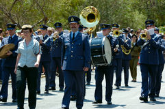 The Parade Of Soldiery Brass Bands Stock Image