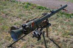 Free The Past Anti Tank Recoilless Gun Projectile Of USSR Royalty Free Stock Photography - 184003687