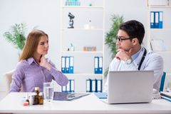 Free The Patient Visiting Doctor For Medical Check-up In Hospital Royalty Free Stock Photography - 110140937
