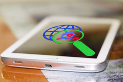 Free The Percent Sign And Planets On Your Phone Screen . Royalty Free Stock Photos - 80387588