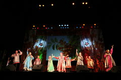 The Performance On The Stage Of Actors, Soloists, Singers And Dancers Of The National Theatre Russian Song Royalty Free Stock Images
