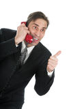 The Person Speaks By The Phone Stock Images