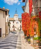 The Picturesque Village Of Pescocostanzo During Autumn Season. Abruzzo, Central Italy. Royalty Free Stock Photography