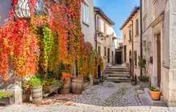 The Picturesque Village Of Pescocostanzo On A Sunny Day. Abruzzo, Central Italy. Royalty Free Stock Photos