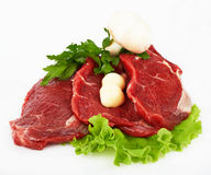 The Piece Of Raw Fillet Steak Royalty Free Stock Images